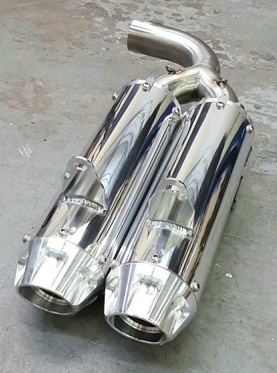 Empire Industries YXZ 1000R Dual Slip On Exhaust