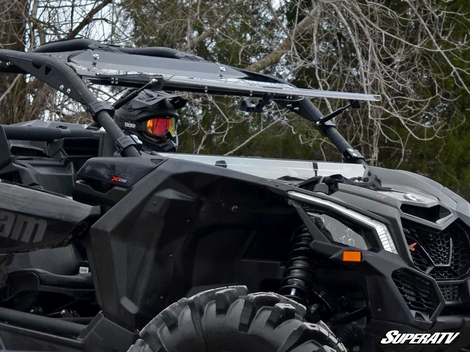 Super Atv Can Am Maverick X3 Scratch Resistant Flip Windshield