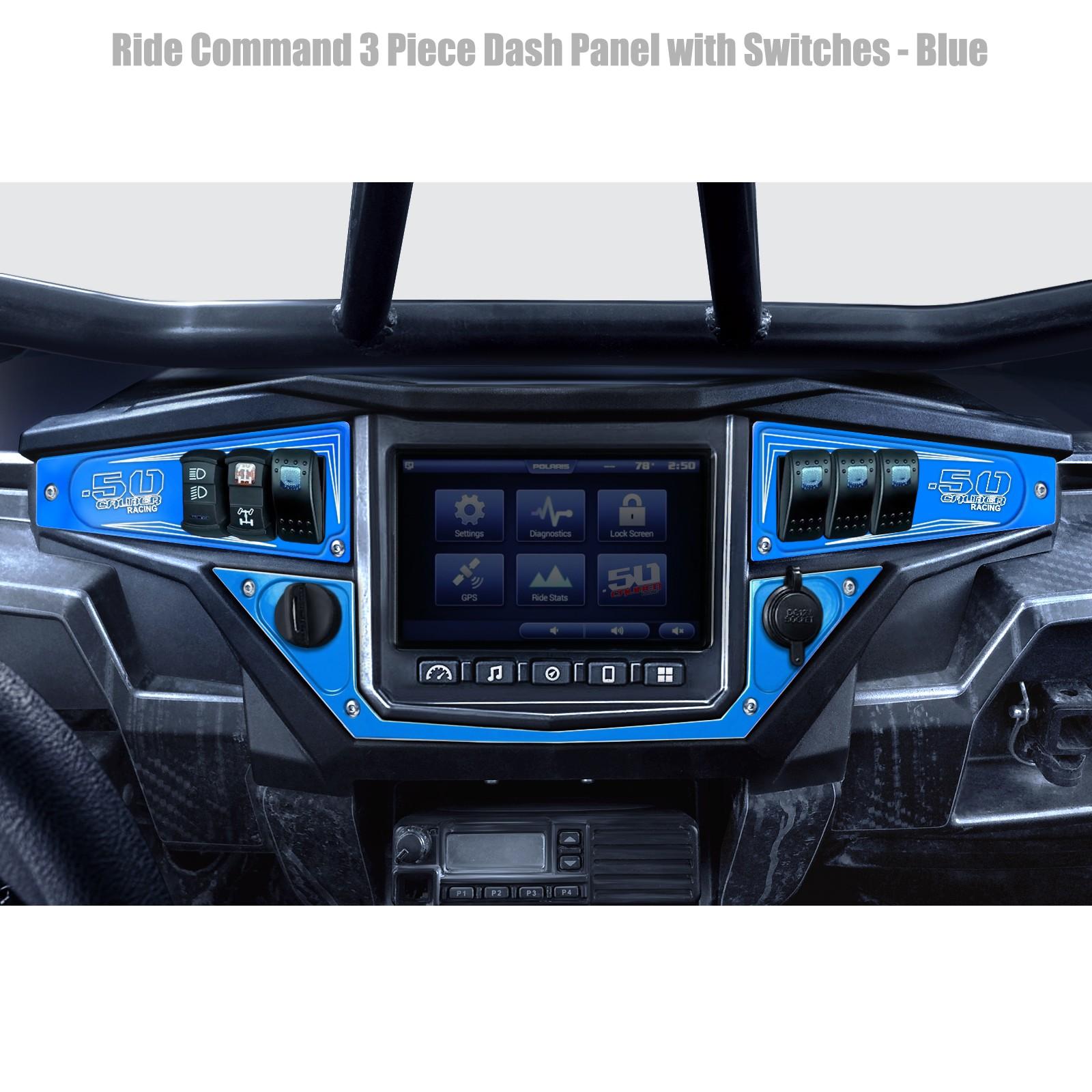 Polaris RZR Dash Switch Panel Kit Blue Aluminum for XP 1000 XP SxS UTV