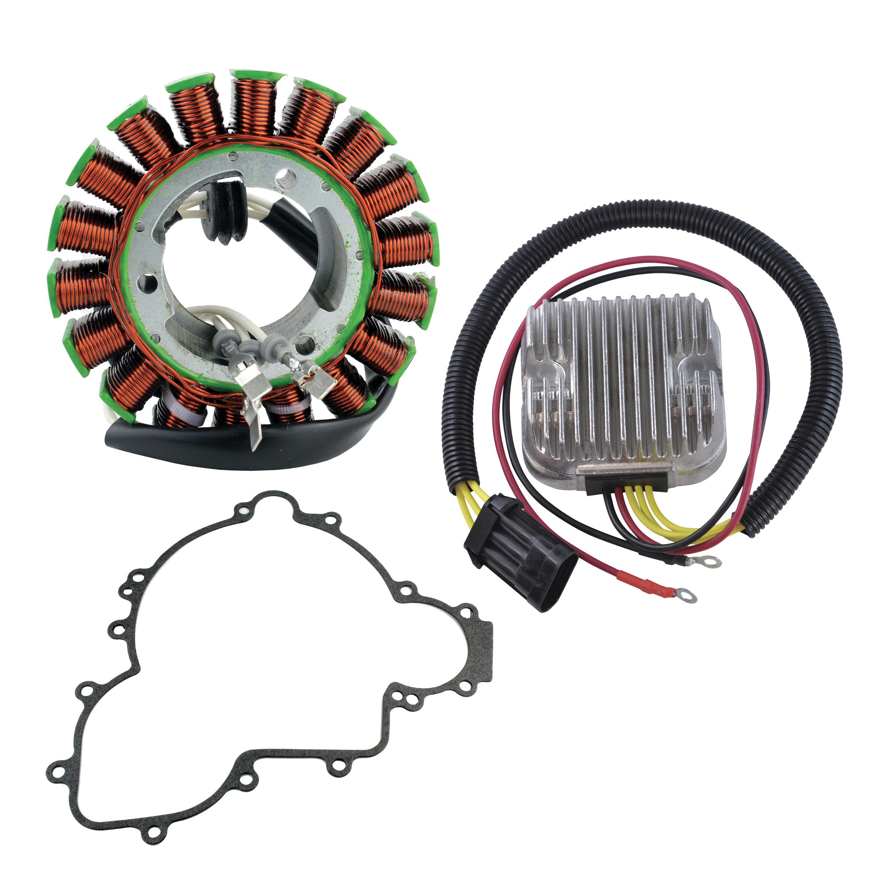 kit stator   voltage regulator rectifier   stator gasket