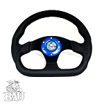 BAU D-RING LEATHER STEERING WHEEL - 6 HOLE