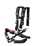 Dragonfire Racing H-Style SFI Appoved 5 Point Race Harness Black 3