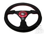 BAU Black Leather Steering Wheels