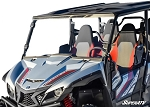 Super ATV Yamaha Wolverine X4 Scratch Resistant Full Windshield