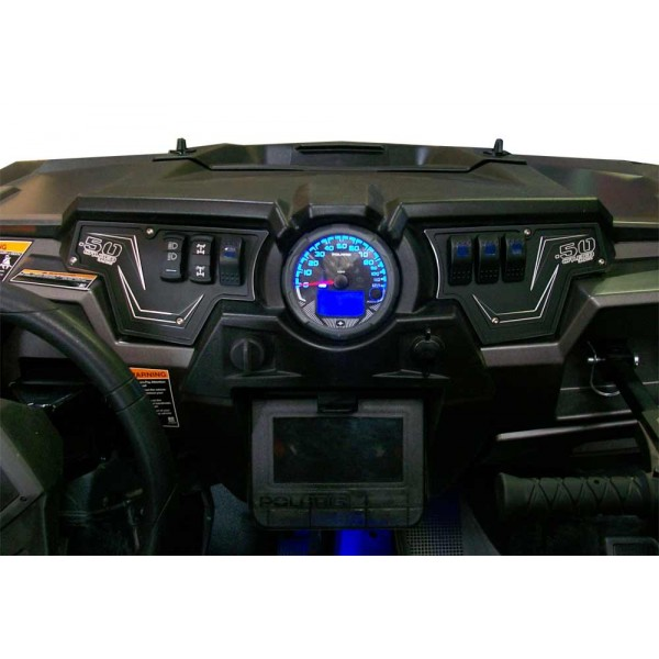 50 Caliber Racing Rzr Dash Panel 2 Piece