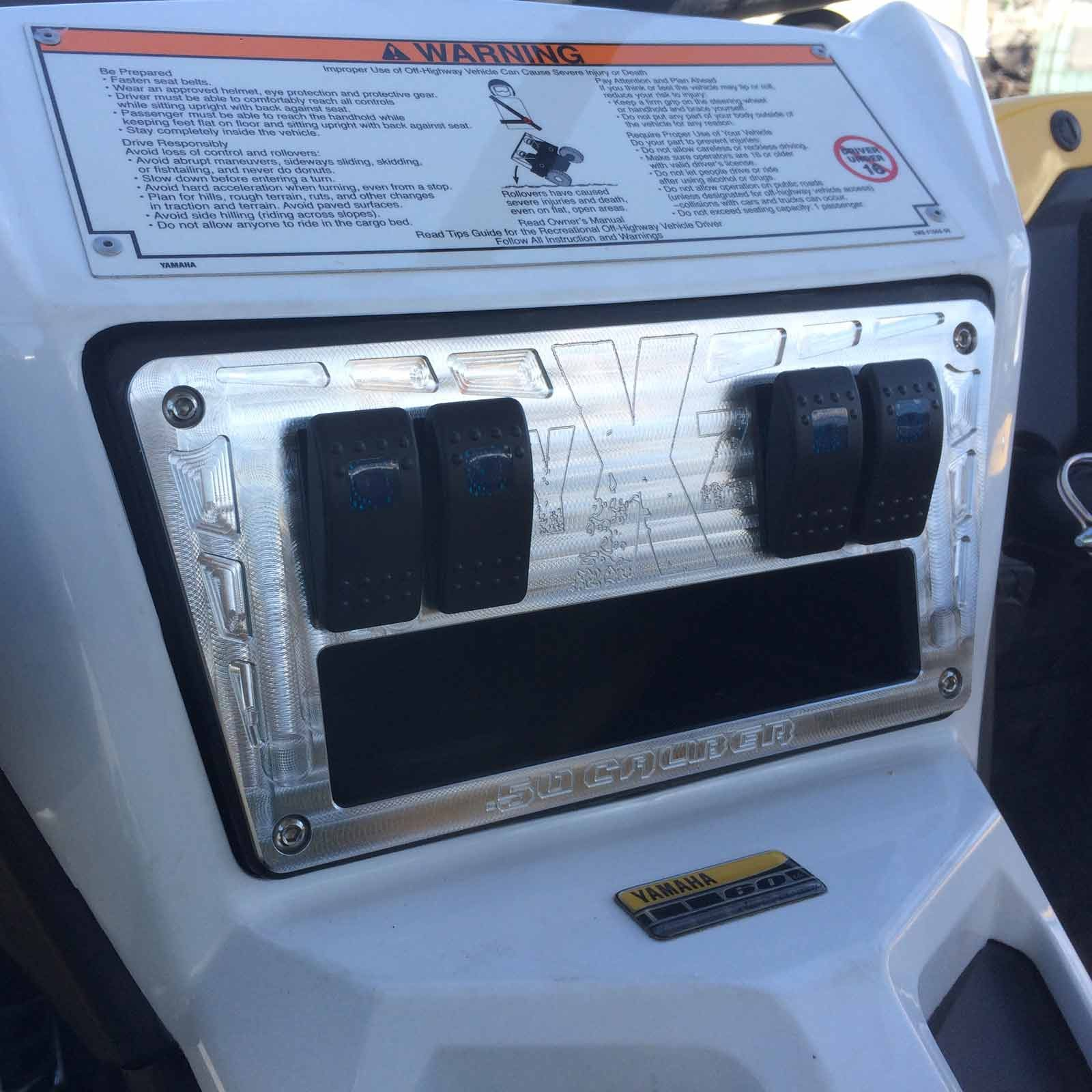 50 Caliber Racing YXZ 1000R Custom CNC 4 Switch Dash Panel