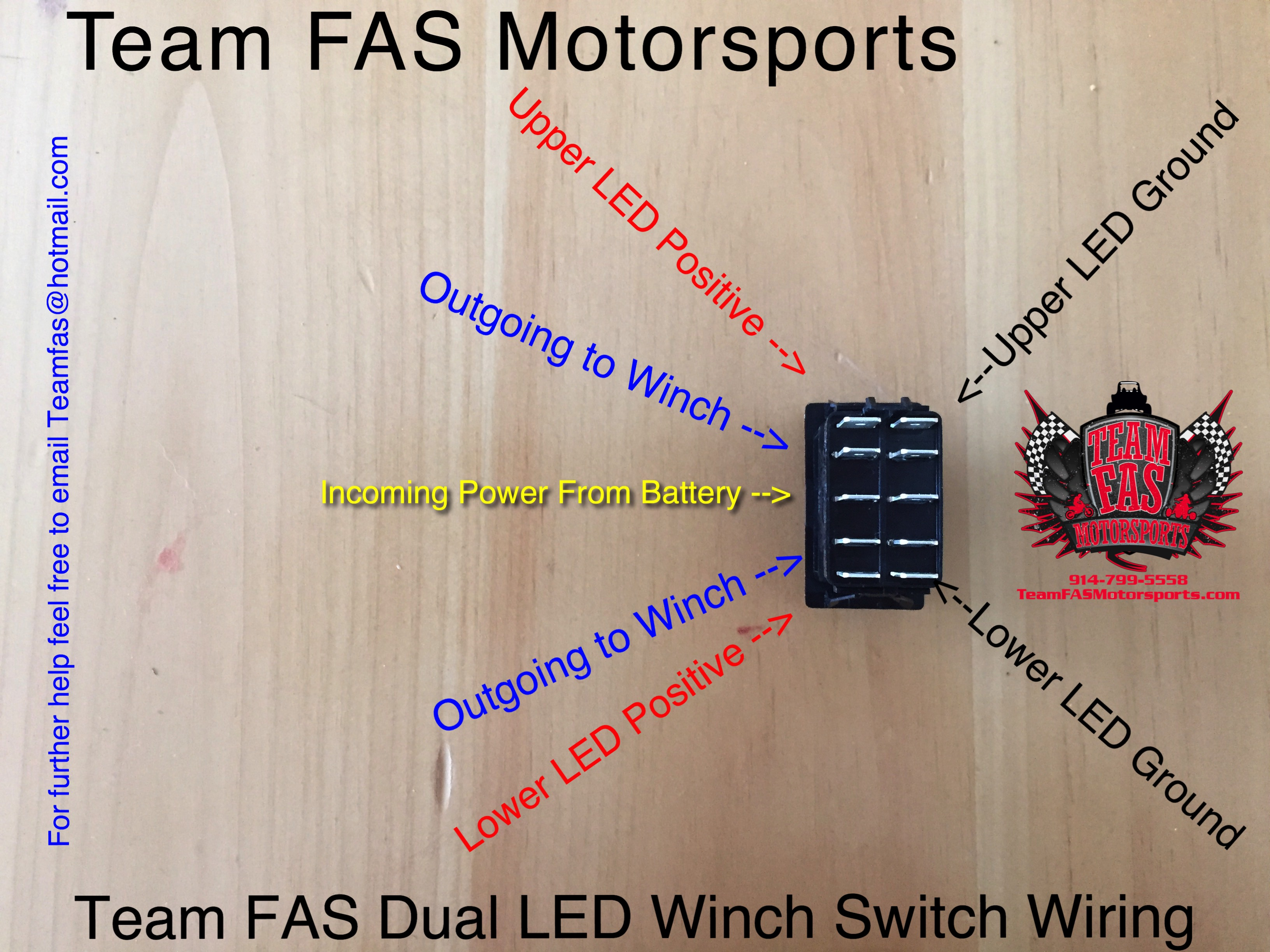 Wiring Diagrams Diagram For A Winch Team Fas Motorsports Dual Led On Off Switch