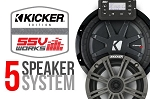 SSV POLARIS RZR XP 1000 COMPLETE KICKER 5 SPEAKER PLUG-AND-PLAY SYSTEM