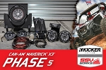 SSV CAN-AM MAVERICK X3 / X3 MAX COMPLETE KICKER 5 SPEAKER PLUG-AND-PLAY SYSTEM