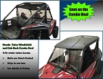 Honda Talon Windshield and Cab Back/Dust Stopper Combo Deal (Hard Caoted on Both Sides) (Two Items in Combo)