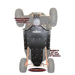 Factory UTV RZR XP 1000 Three Eights UHMW Skid Plate