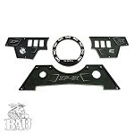 BAU POLARIS RZR XP 1000 UPPER AND LOWER DASH PLATES WITH SPEED ODOMETER BEZEL