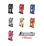 DragonFire H-Style 4-Point 3 Inch Harness (Sewn In)