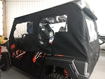SXS Enclosures Yamaha Wolverine X4 Crew Cab 4 Door Utv Full Cab Enclosure (Sides & Rear Window)
